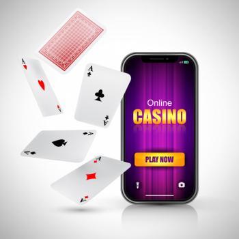 Kännykkä ja pelikortteja